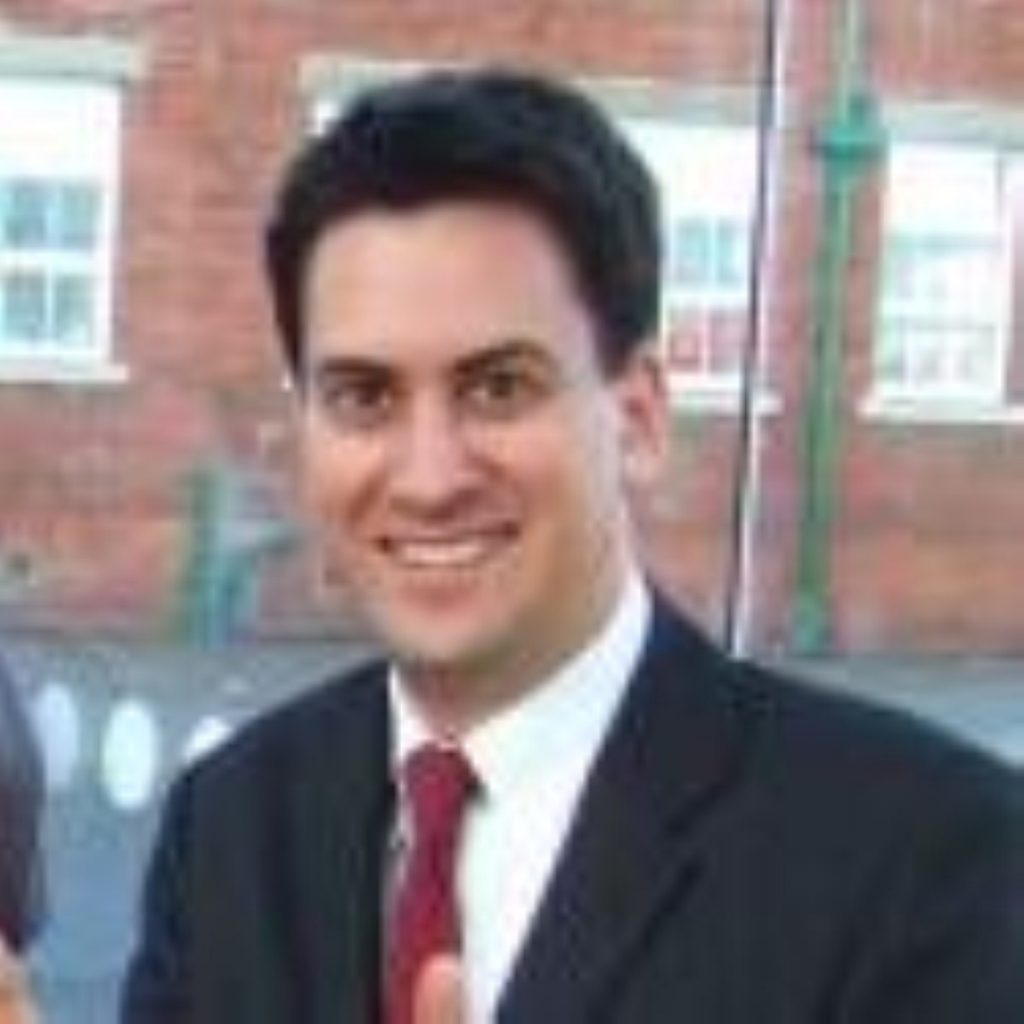 Ed Miliband announcing climate change white paper today