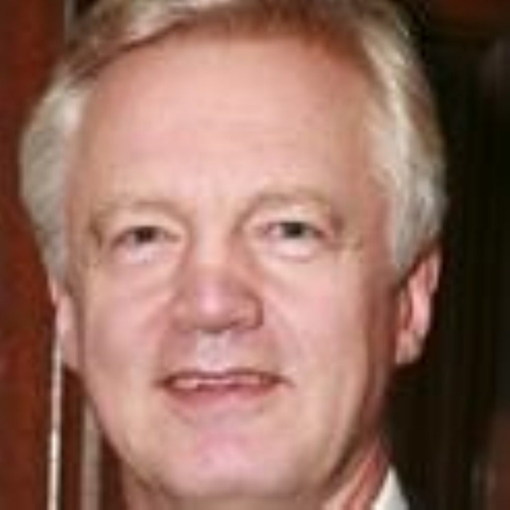 David Davis has launched an attack on his own party's decision to back the transfer of people's health records to Google.