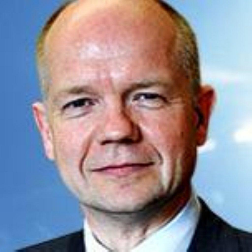 William Hague, shadow foreign secretary