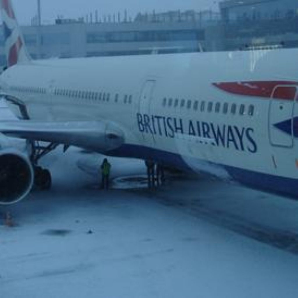 Heavy snowfalls left many planes grounded