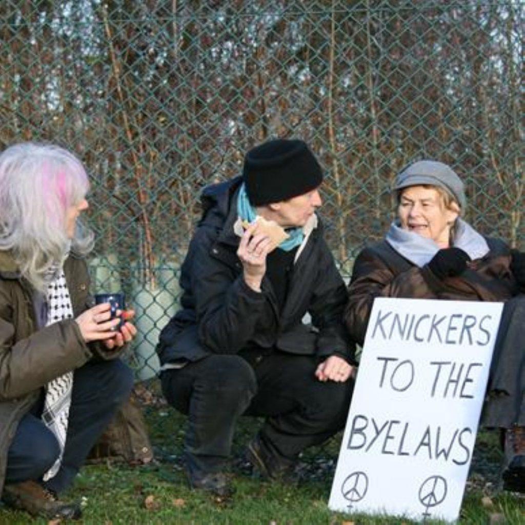 Protestors return to camp
