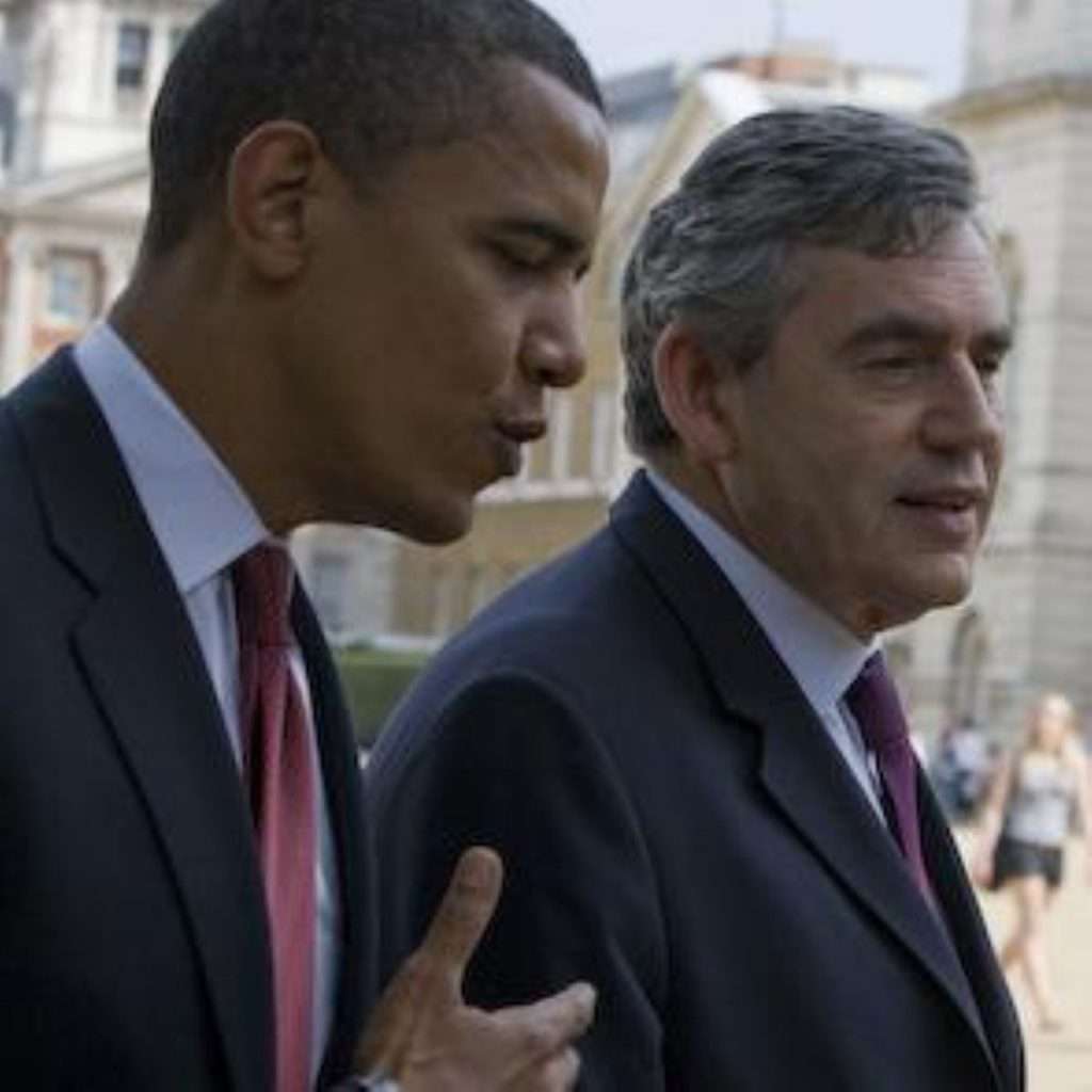 Gordon Brown and Barack Obama were both in Normandy to mark the anniversary of the landings