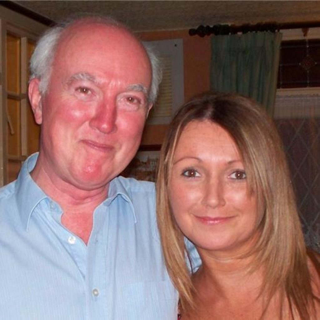 Claudia Lawrence with her father, Peter Lawrence