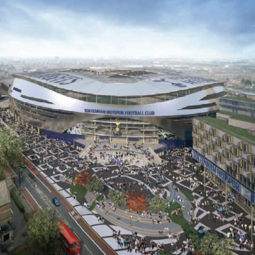 The new White Hart Lane - home of the so-called 'Yid Army'