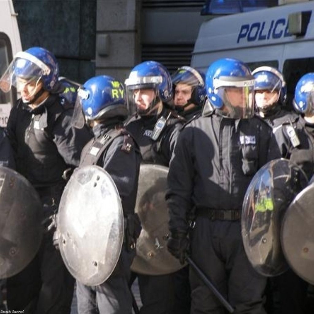 Police during the G20 protests on April 1st