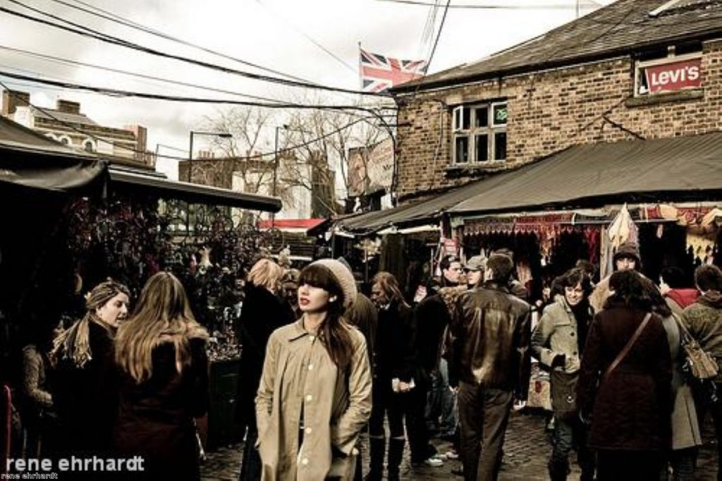 Shoppers in Camden market. Critics say the government's economic agenda will not stimulate growth.