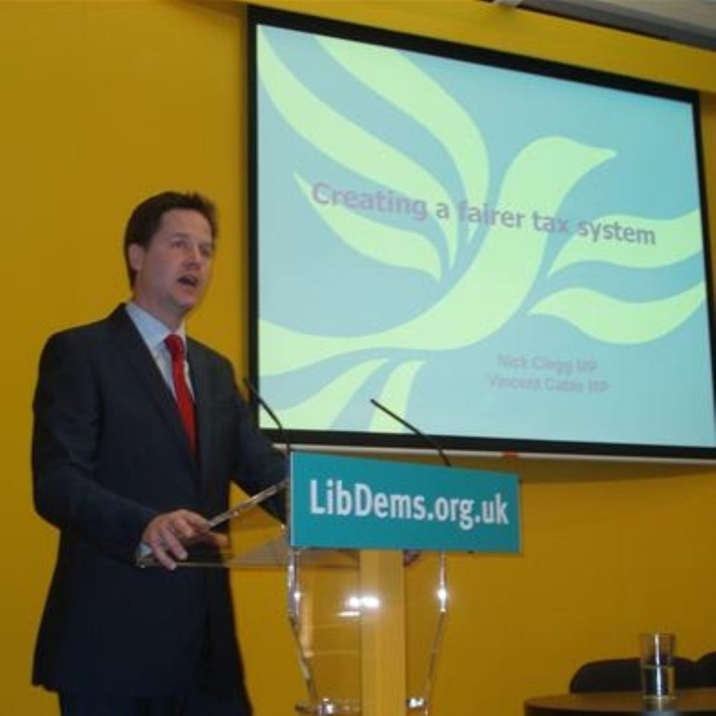 Clegg: Income tax moves will help working families