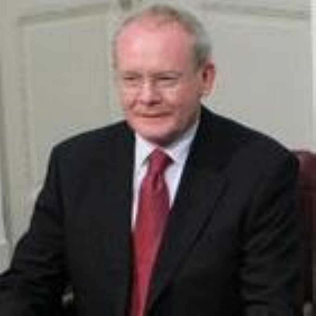 McGuinness expressed cautious optimism yesterday
