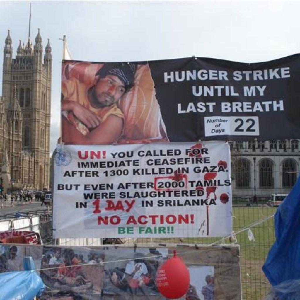 Tamil hunger striker 'close to death'