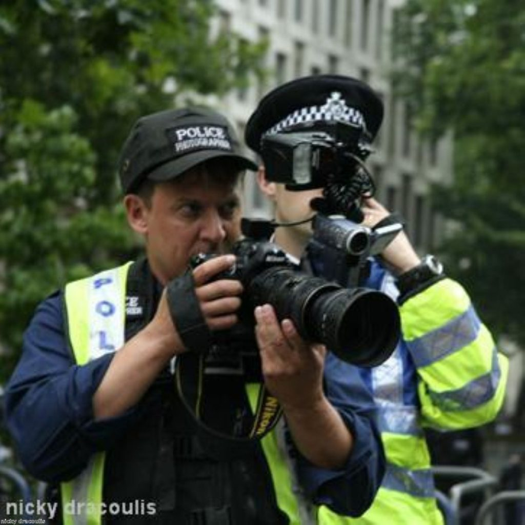Regular police photography at protests is a relatively new development
