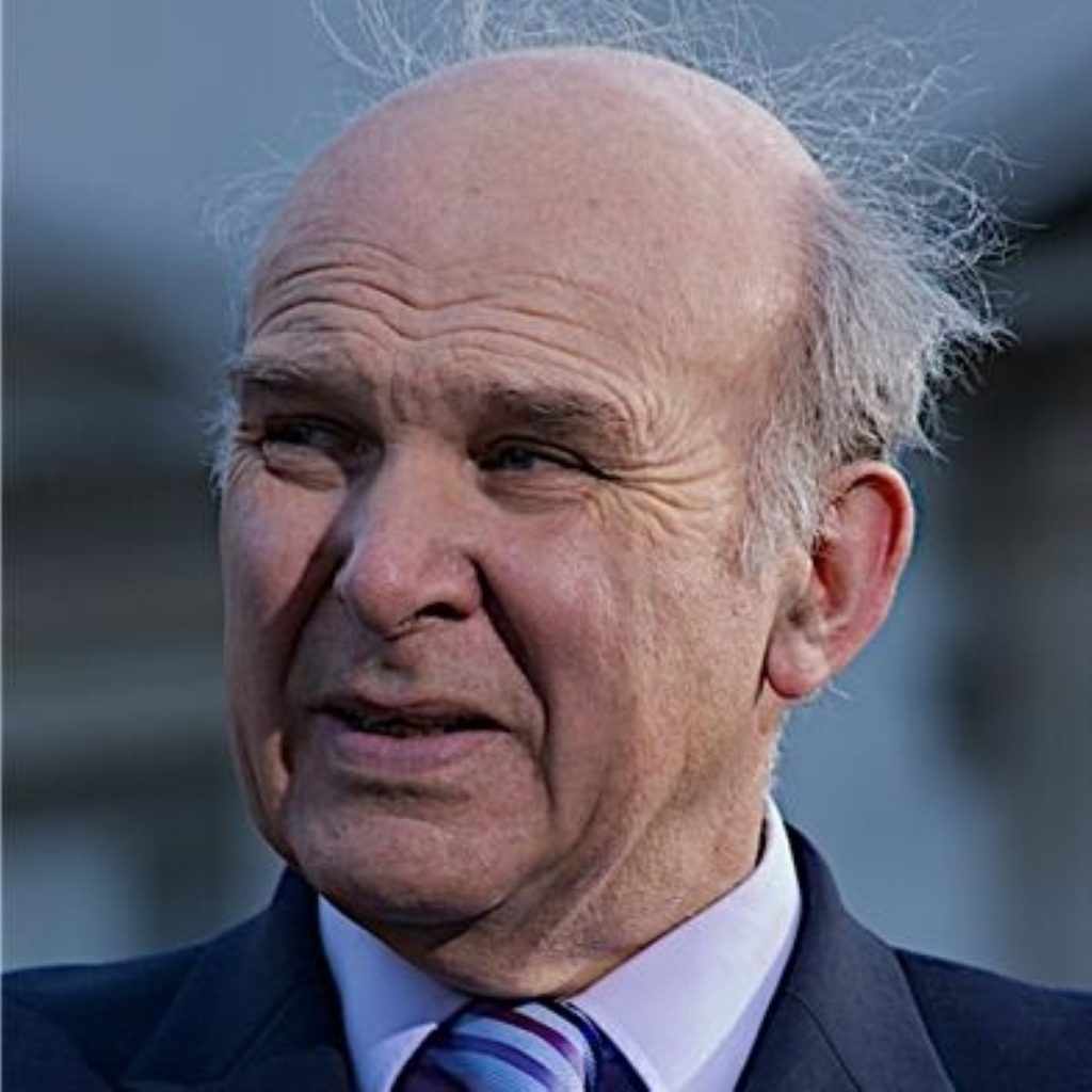 Vince Cable believes the Labour government is to blame for the banking crisis