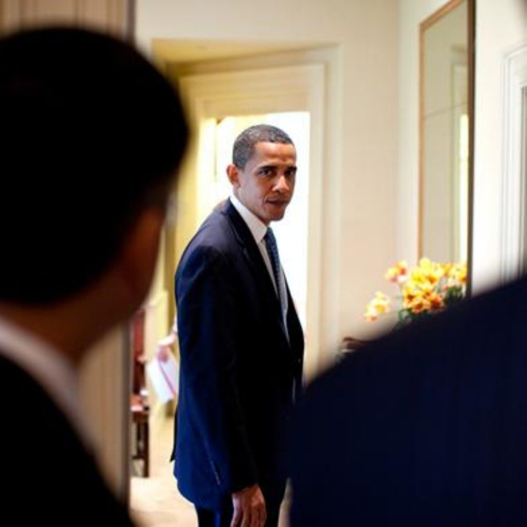 Obama in the flesh: No way to cut to another scene.