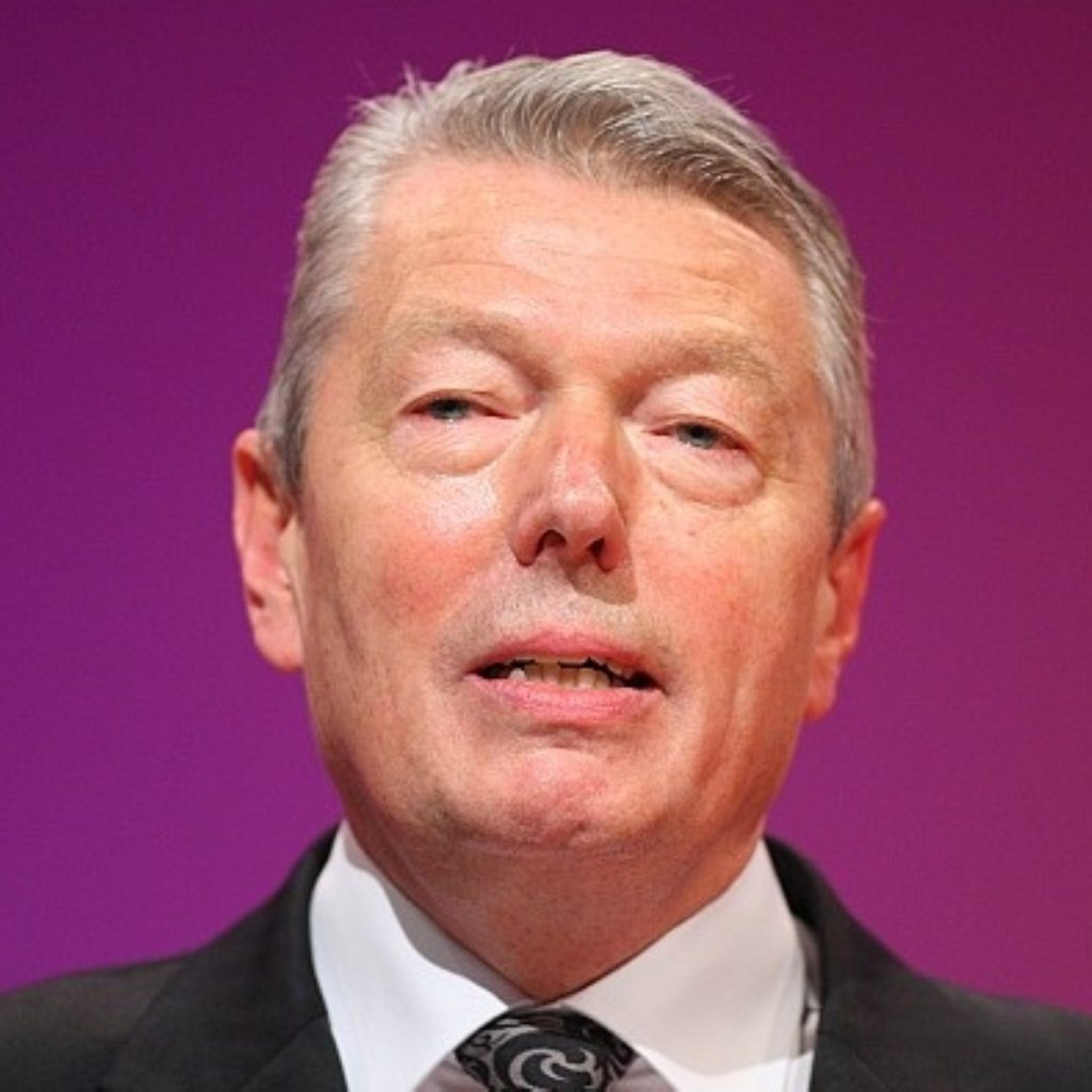 Alan Johnson chooses not to fight this particular battle