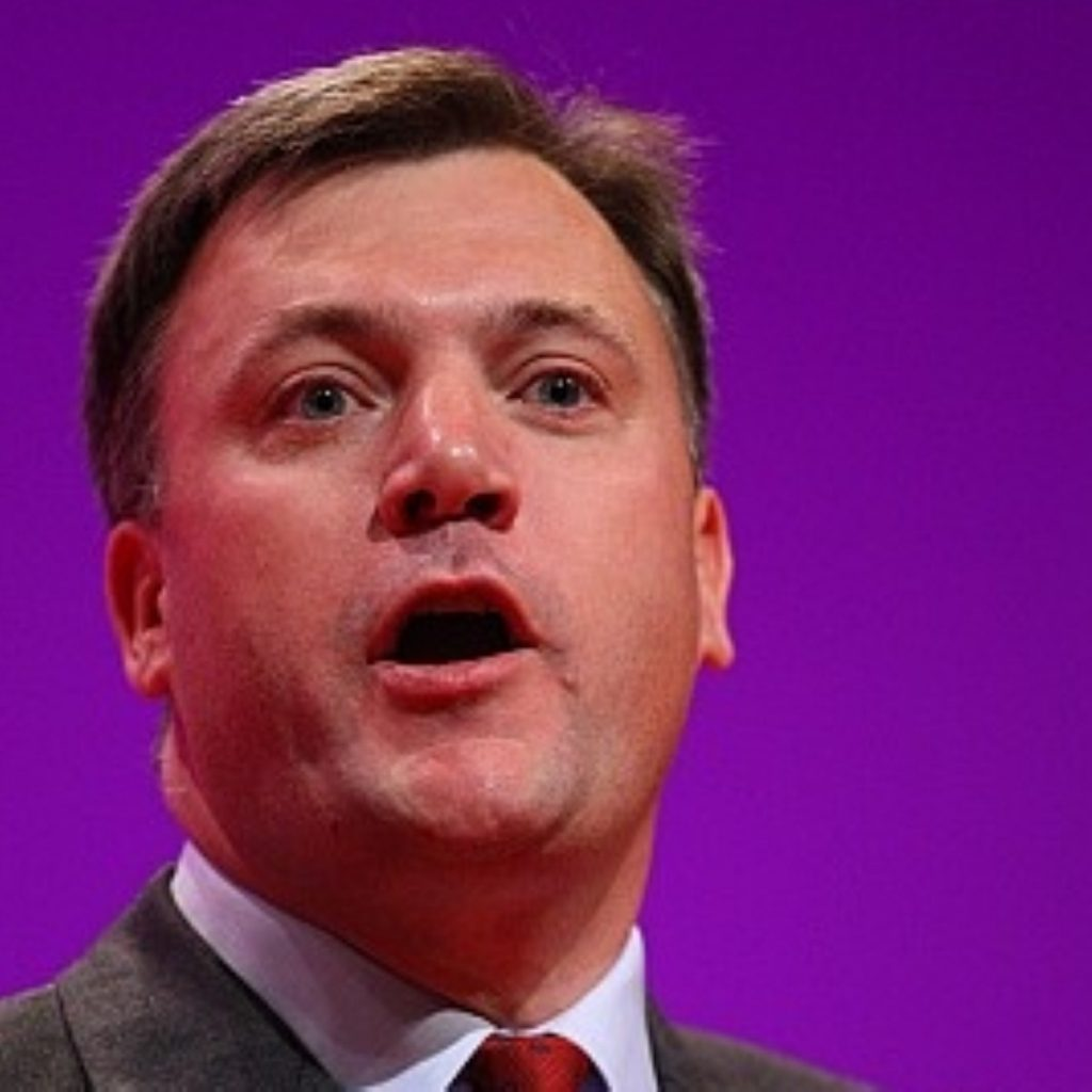Children's secretary Ed Balls has set out possible large scale cuts to the education budget.