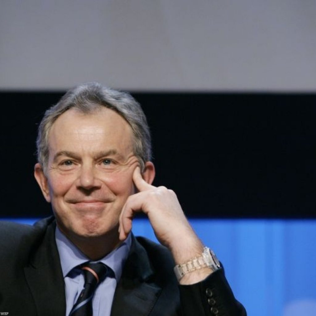 Tony Blair has been reticent about accepting candidacy