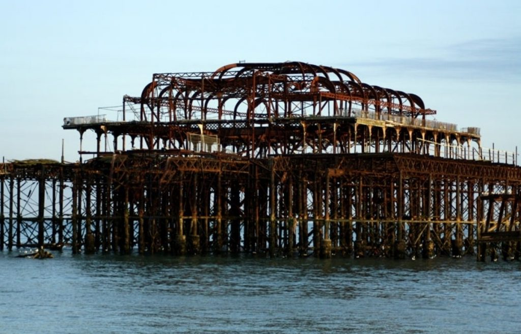 West Pier in Brighton. The Tories are holding their spring conference in the city.