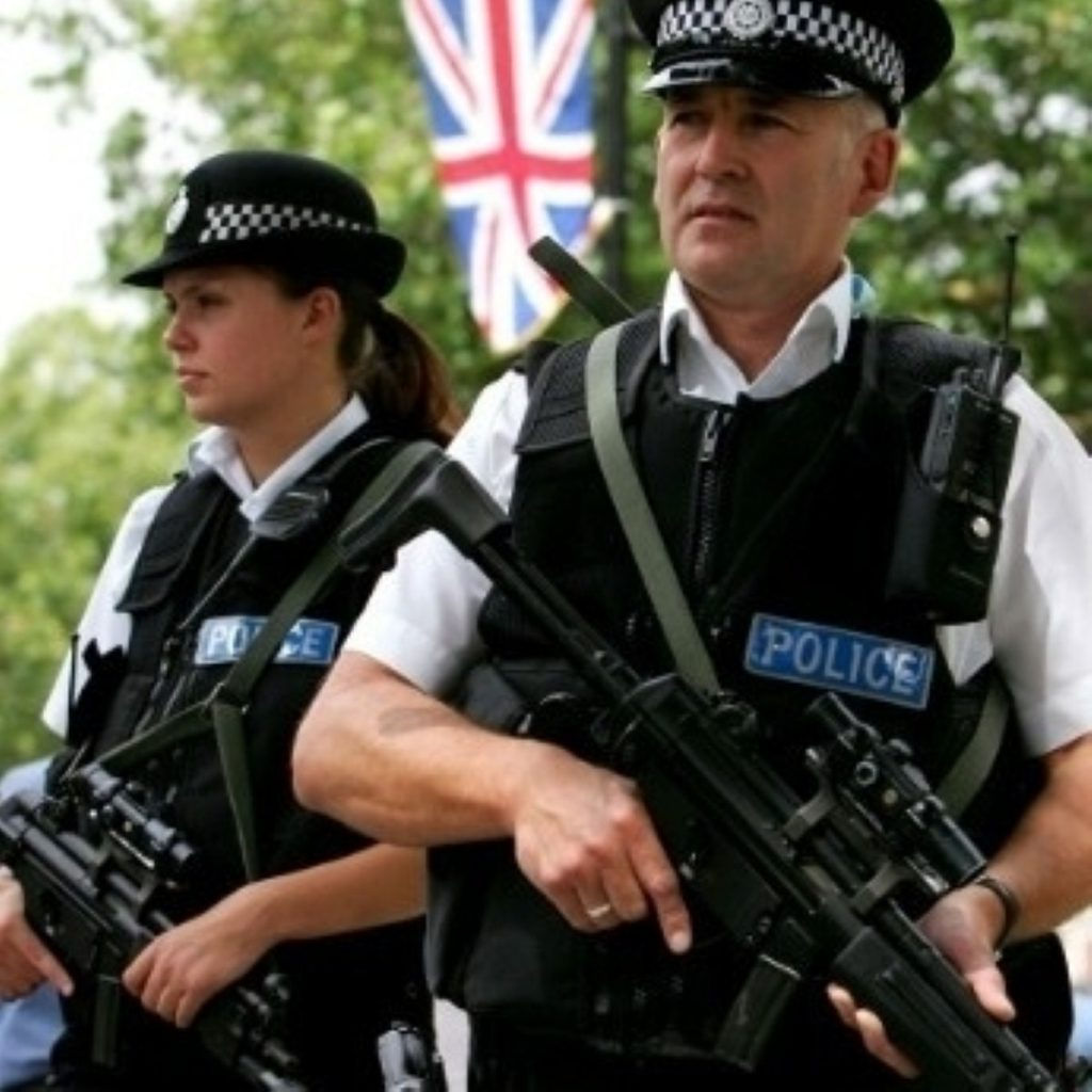 Police were previously only carrying guns near airports or royal houses