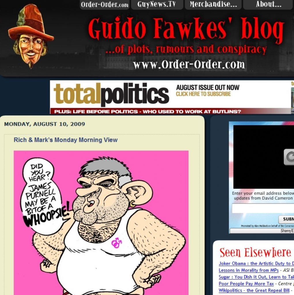 Guido Fawkes called to Leveson