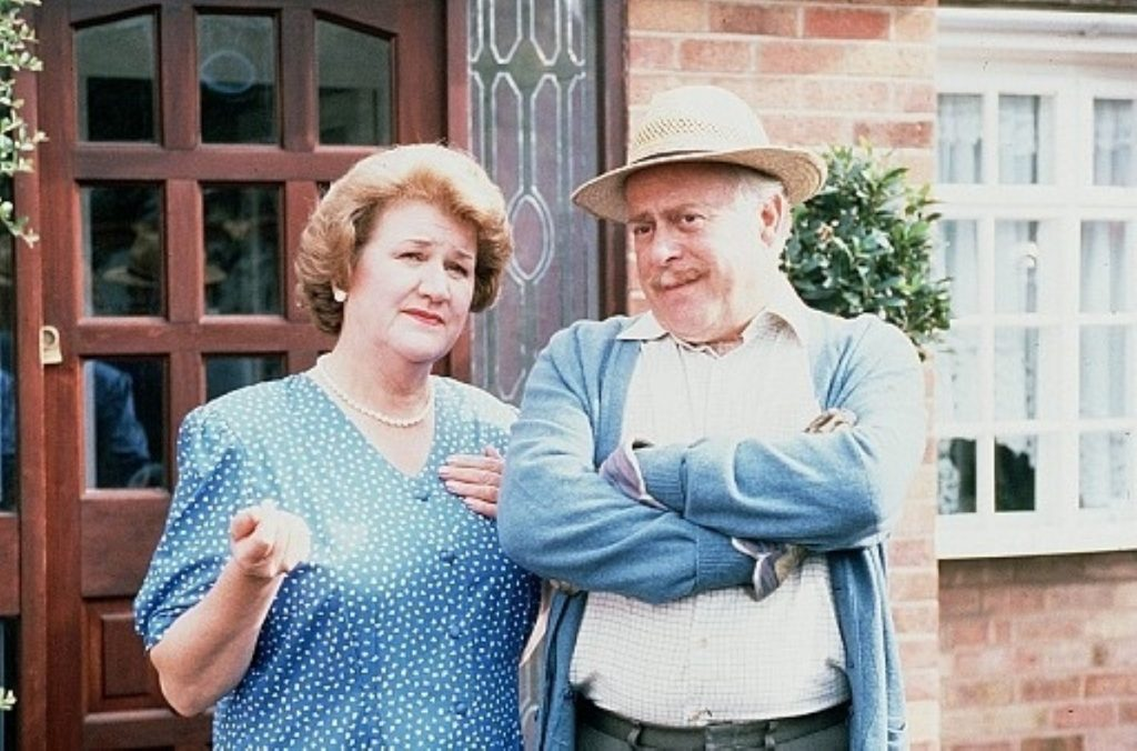 Patricia Routledge and Clive Swift in the 90s sitcome Keeping Up Appearances