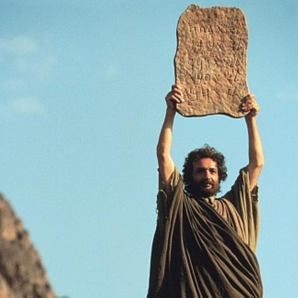 Ben Kingsley in Moses: Tweetier-than-thou?