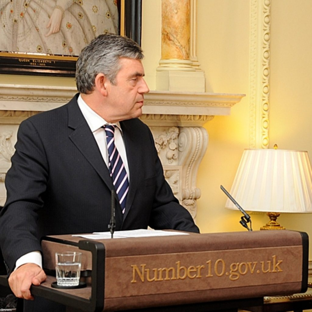 Gordon Brown responded to letter error with personal response