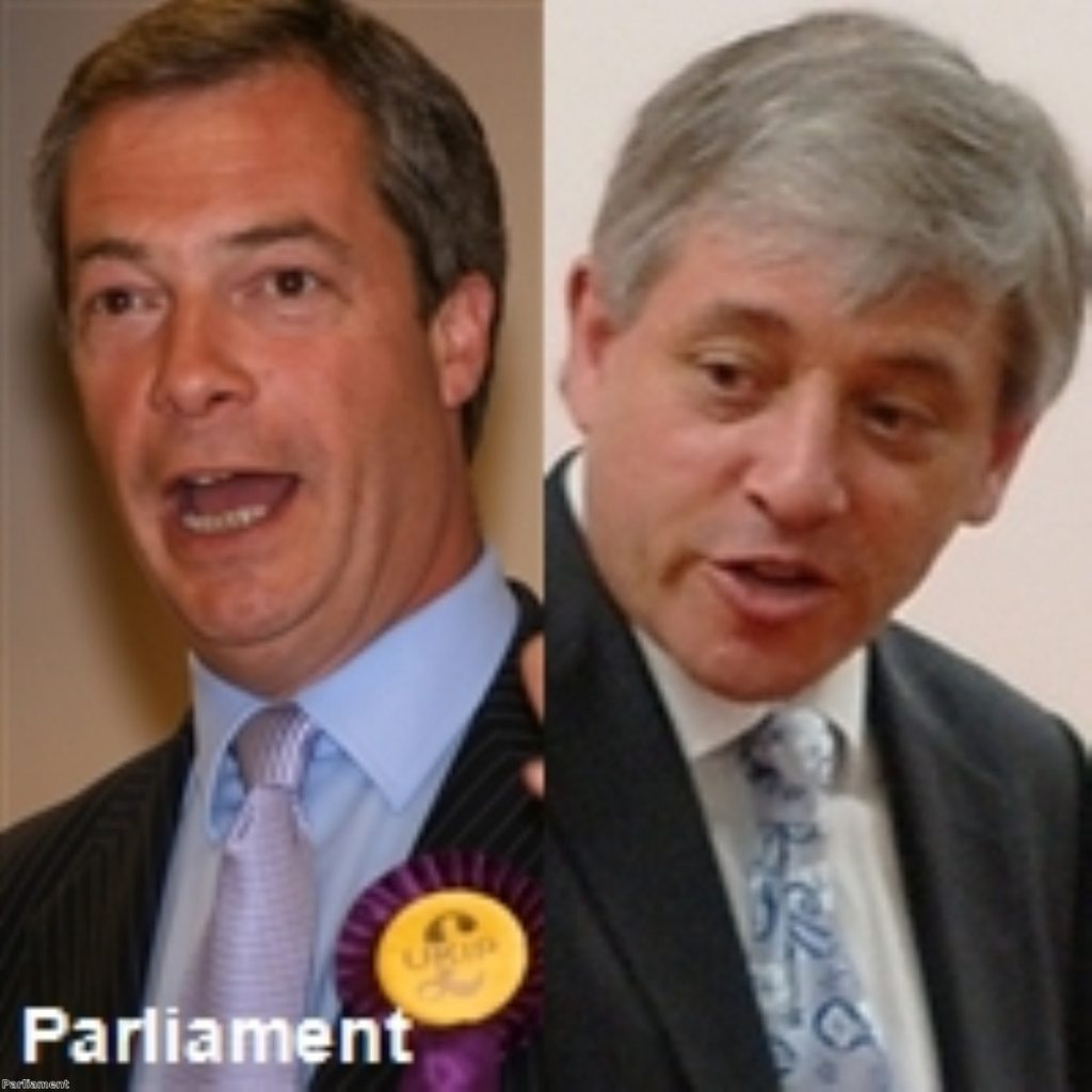 Bercow is fighting Farage at the general election