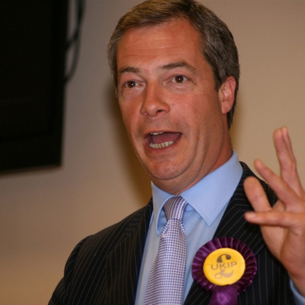 Farage is due on stage at 11.45
