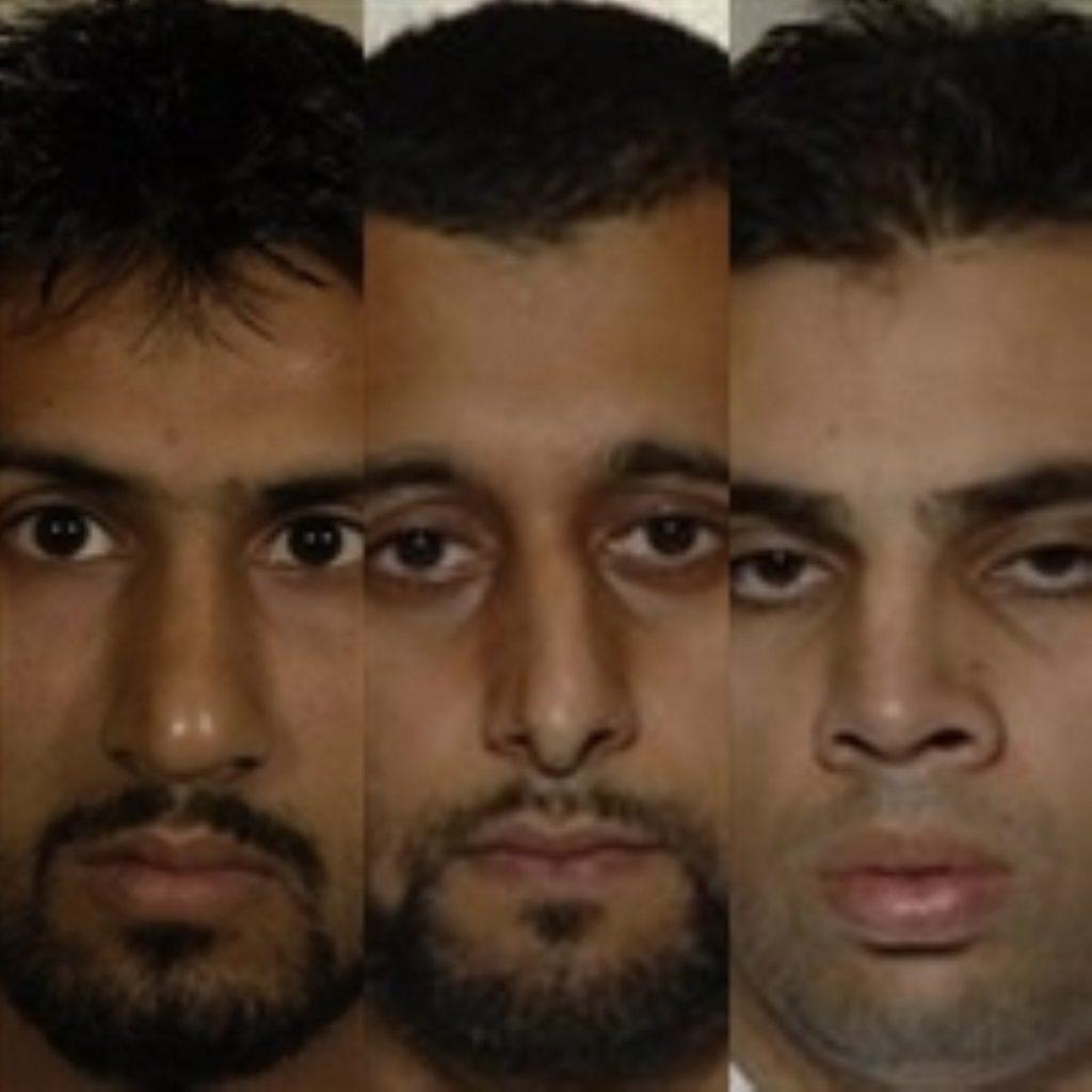Three men guilty of terror plot to detonate flights above Atlantic