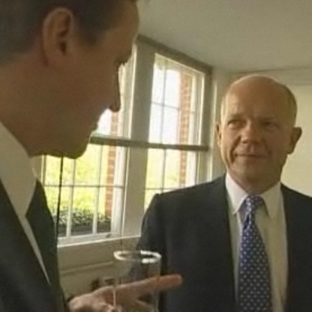 Both David Cameron and William Hague chose to focus on what the Tories have to offer in morning media interviews