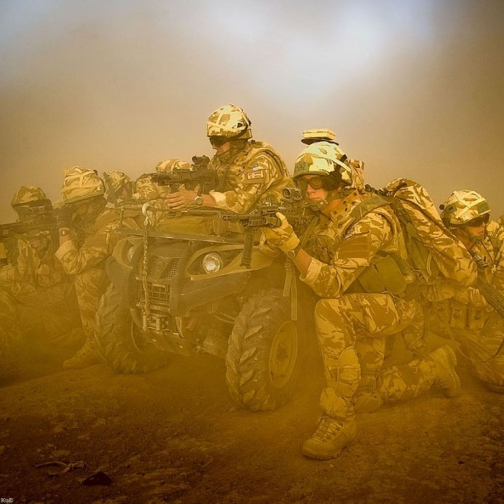 The defence secretary faced calls for more troops from military personnel on the frontline in Afghanistan yesterday.