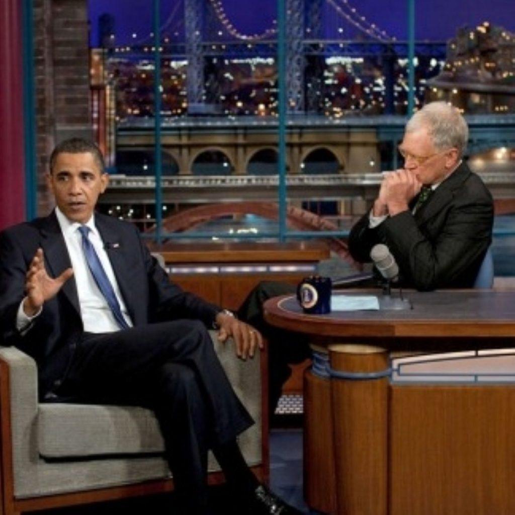 Barack Obama tends to glide through Letterman interviews with little difficulty.