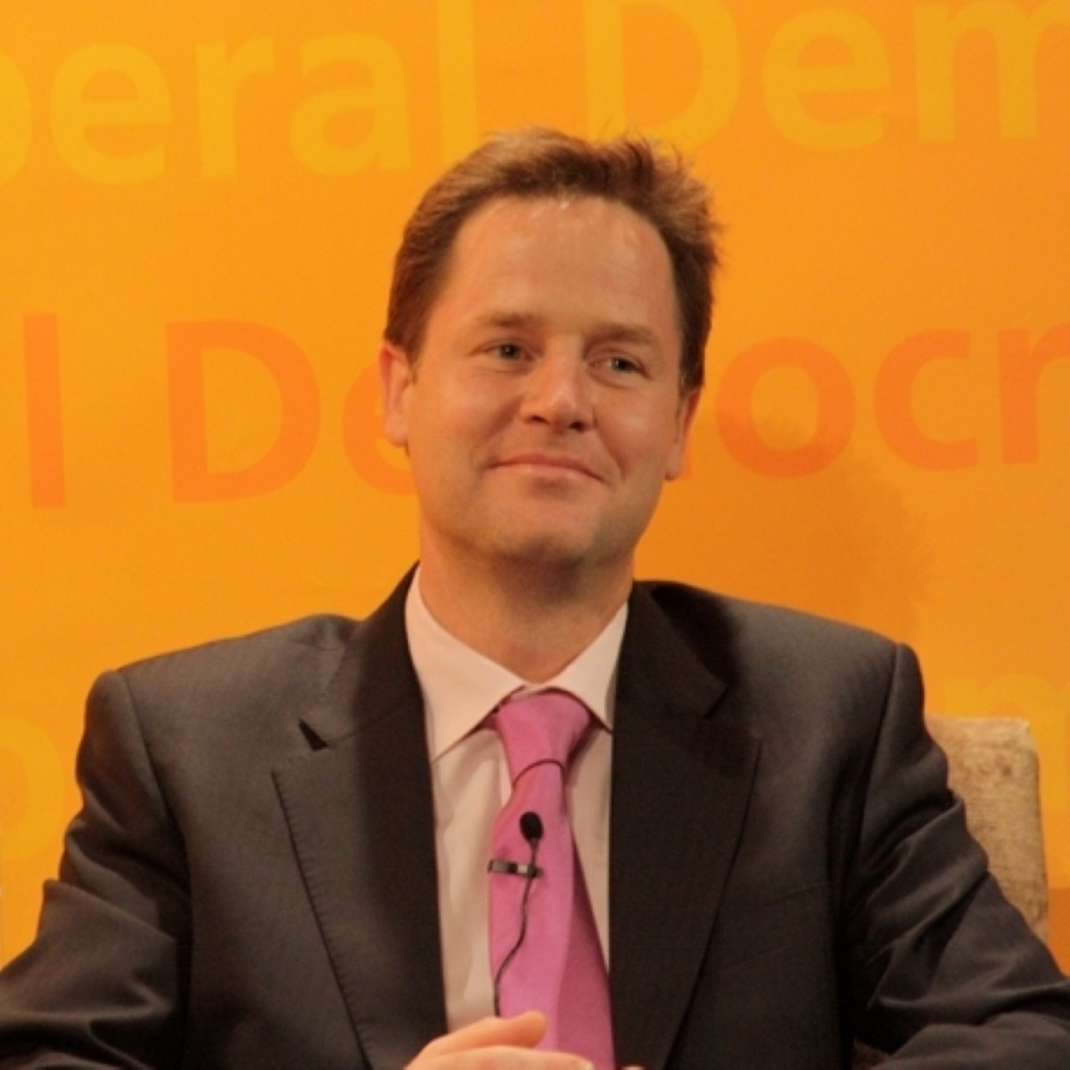 Nick Clegg gave a speech in Luton today outlining his vision for an `open, confident Britain`.