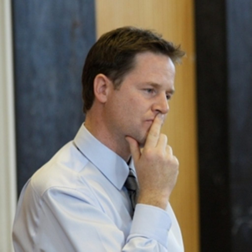 Nick Clegg: Holding the fort