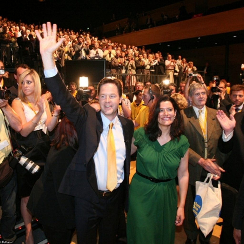 Nick Clegg reached out beyond the conference hall in today's leader's speech