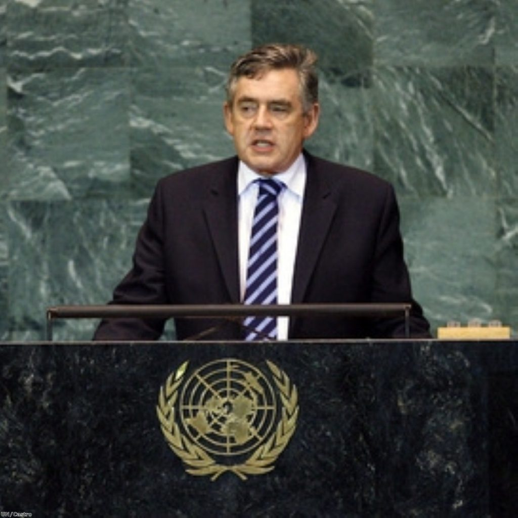 Gordon Brown spoke to the UN general assembly last night.