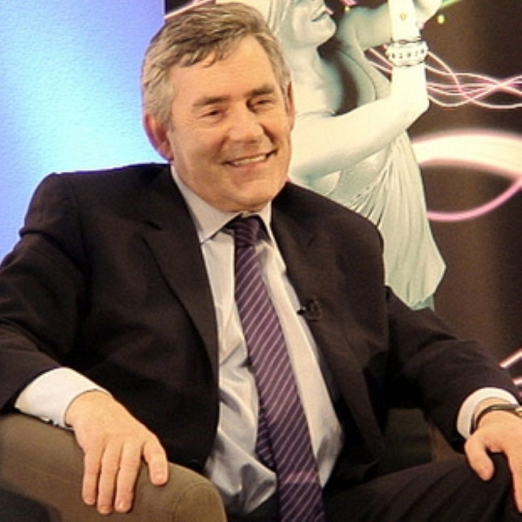 Gordon Brown soon recovered his composure after Cameron's attacks