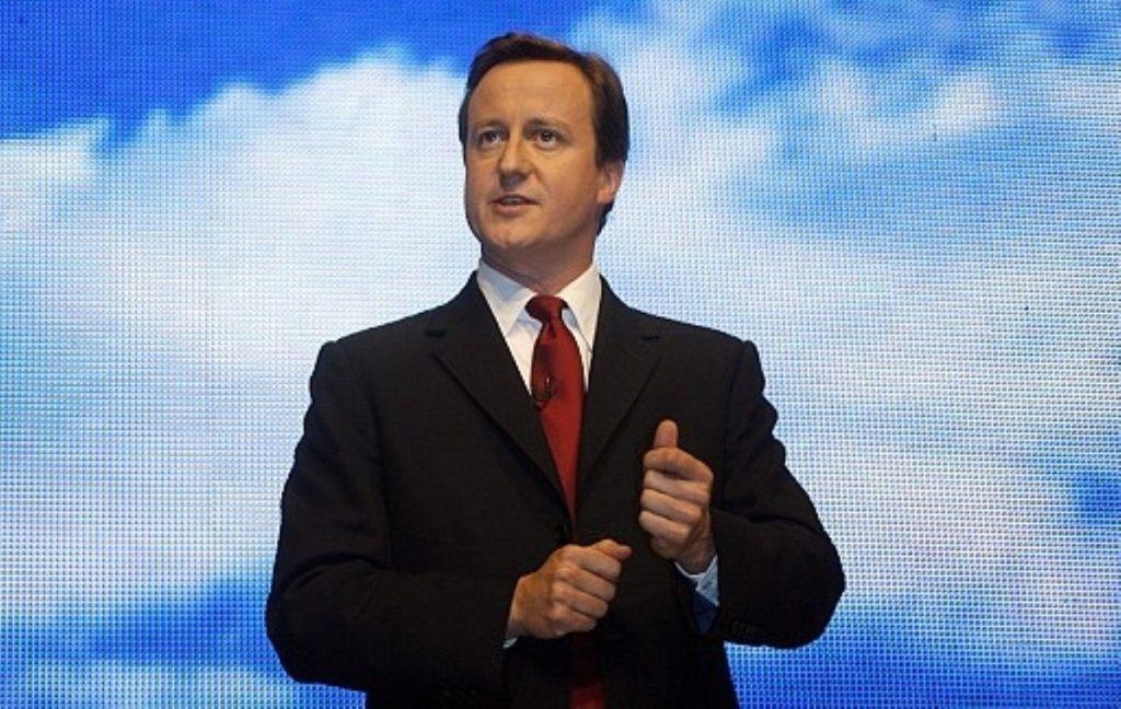 Blue skies behind for David Cameron