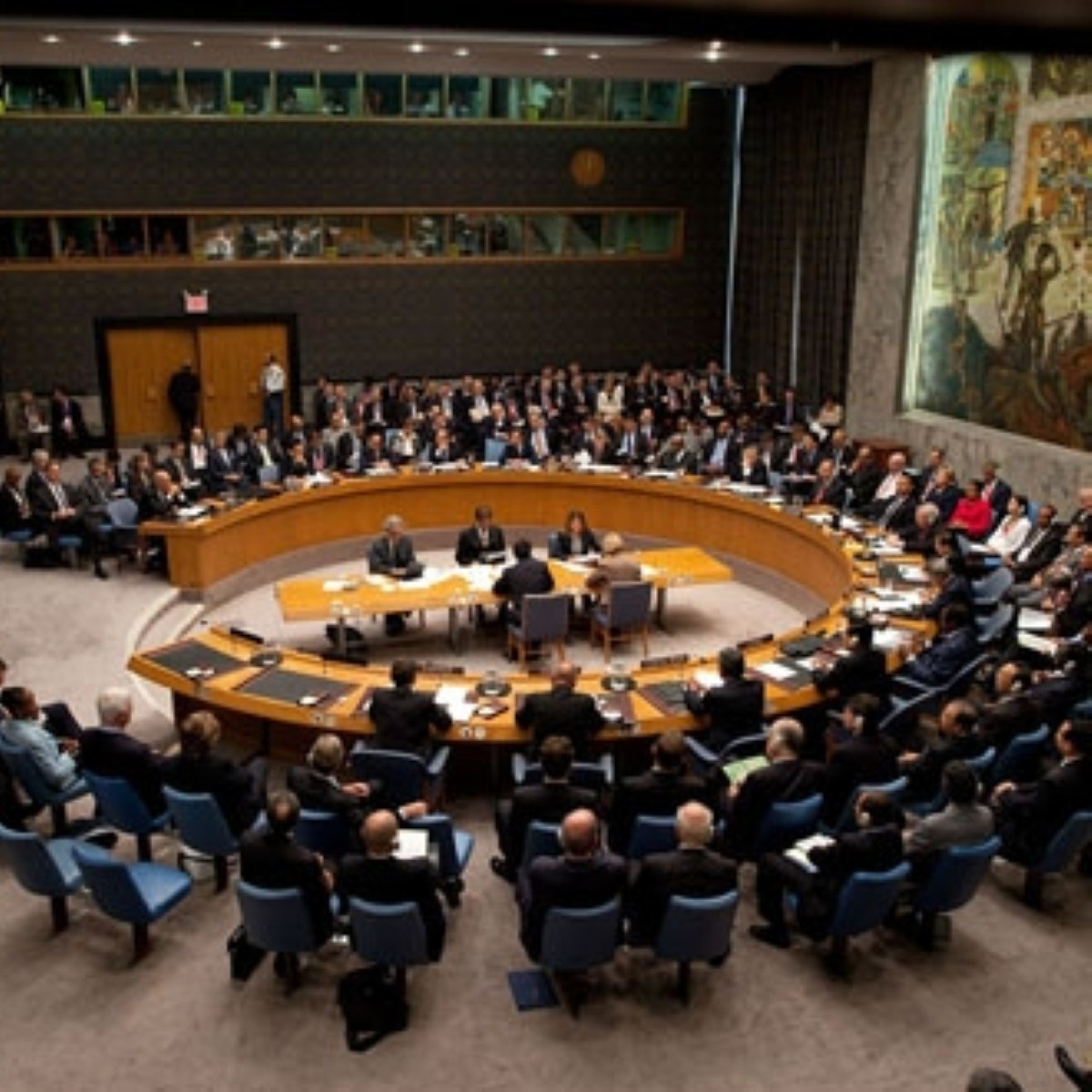UN security council resolution calling on Syria violence to end immediately was blocked by China and Russia
