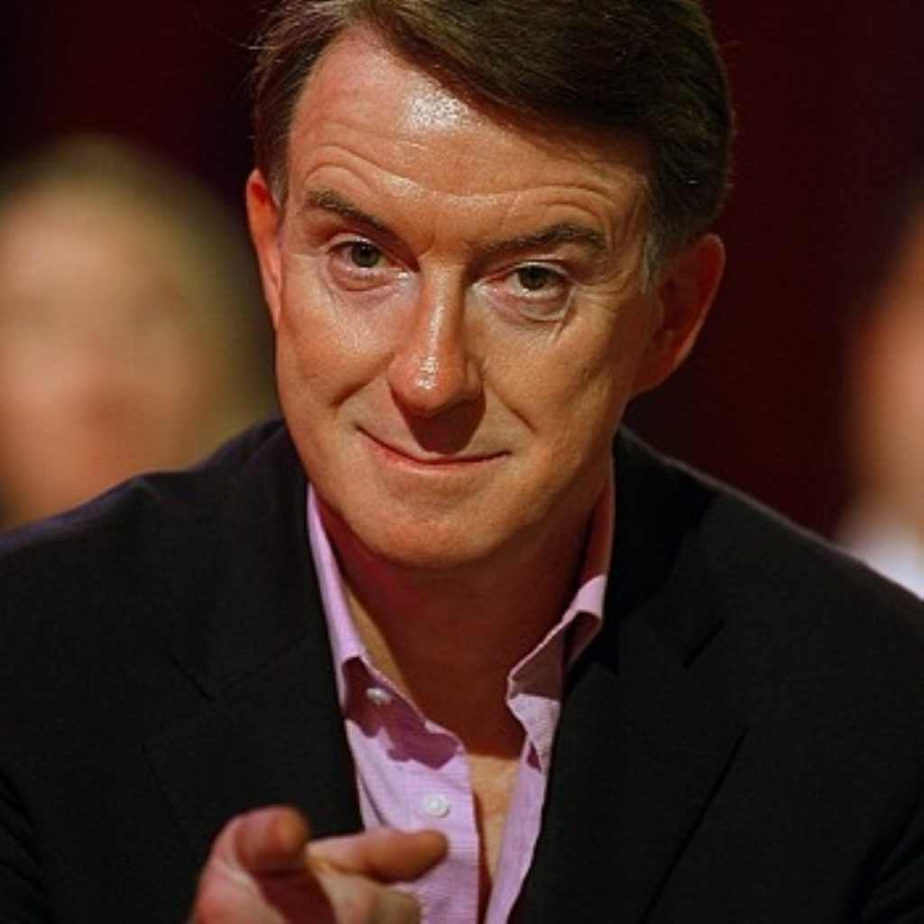 Getting stuck in: Mandy wades into Blair/Miliband row