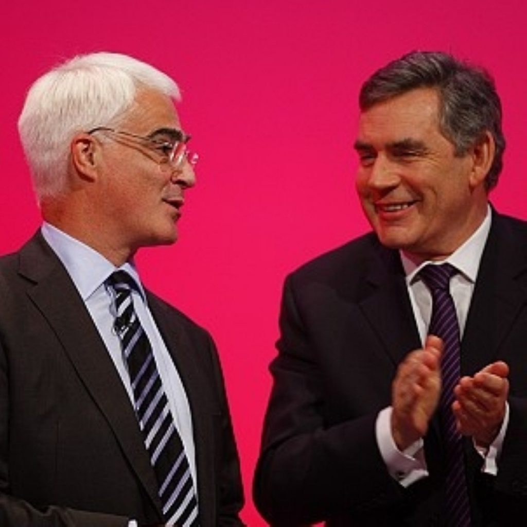 Alistair Darling has backed Christine Lagarde, not Gordon Brown, to take over at the IMF