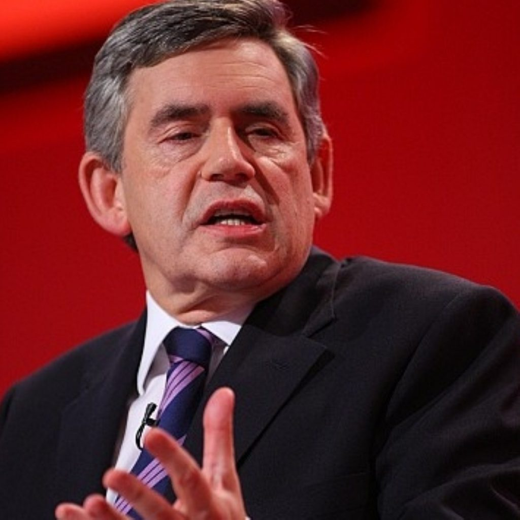 Brown says the Tories are stoking fear in their statements on crime