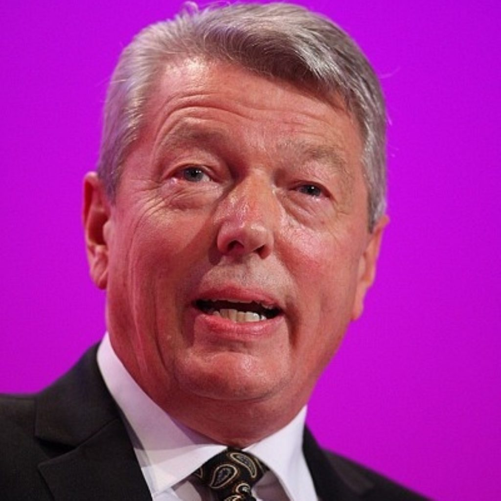 Alan Johnson at the Labour party conference earlier this month