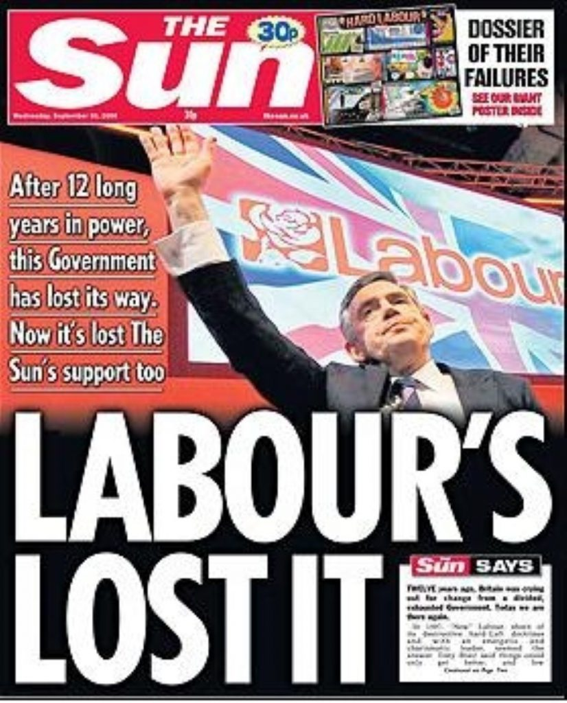 """There was bad news for the Labour party this morning after the Sun newspaper ran the front page headline """"Labour's lost it""""."""