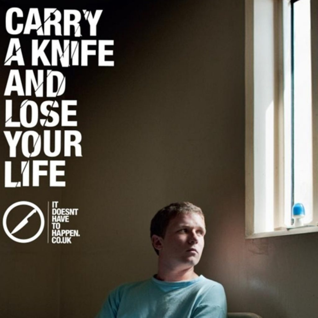 New knife crime advert from the Home Office