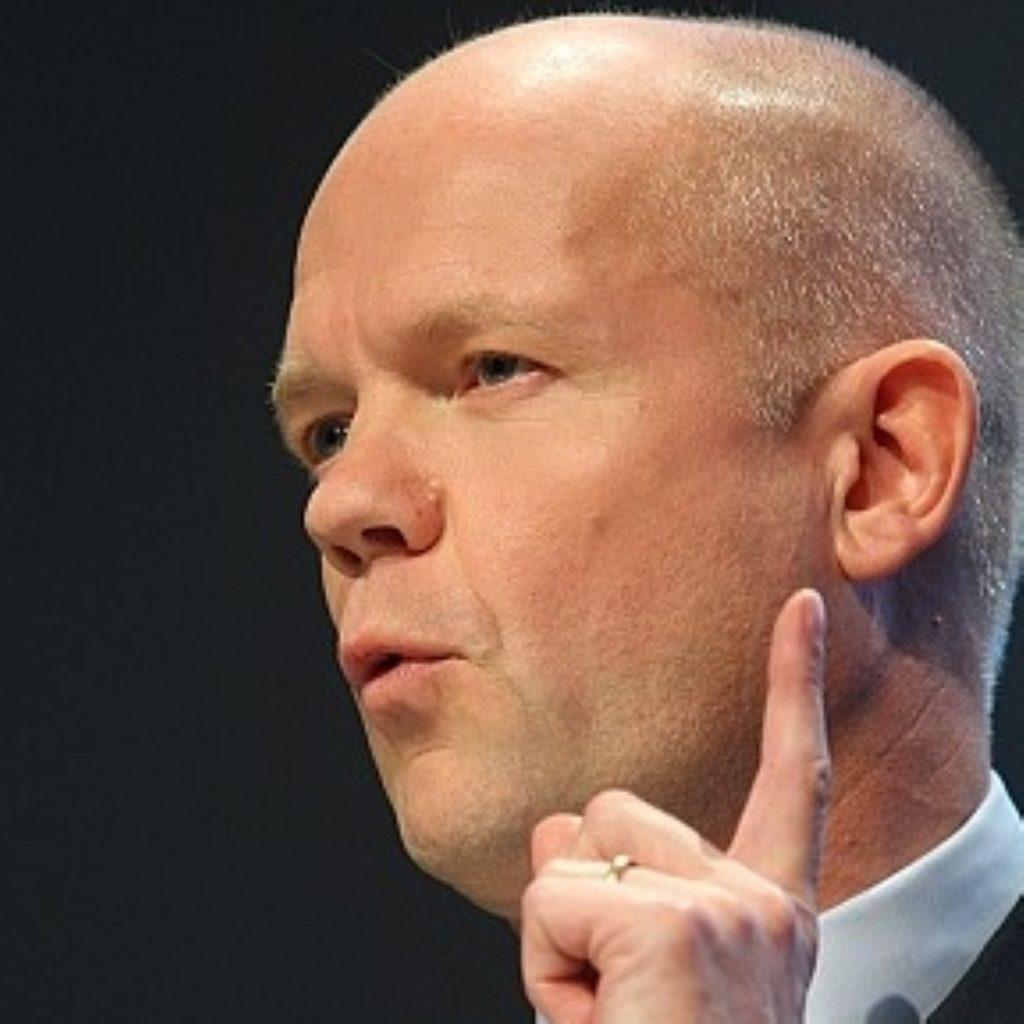 William Hague skirted round referendum issue
