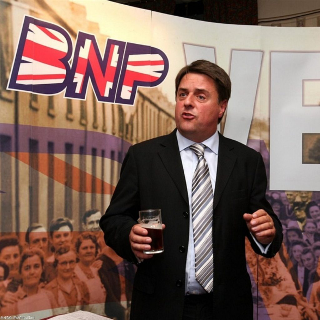 Nick Griffin risked provoking a mob outside the gay couple's house