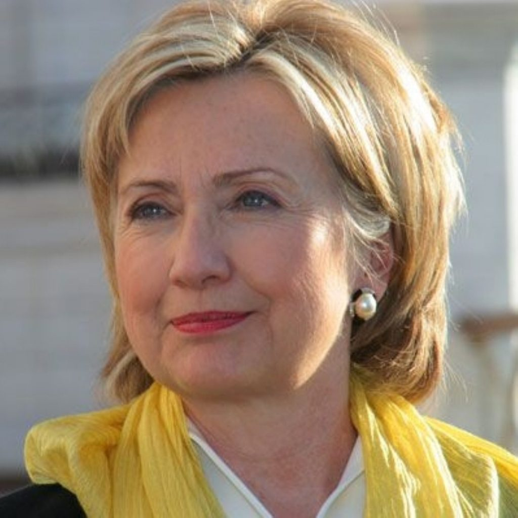 Clinton held extensive talks with the shadow foreign secretary yesterday