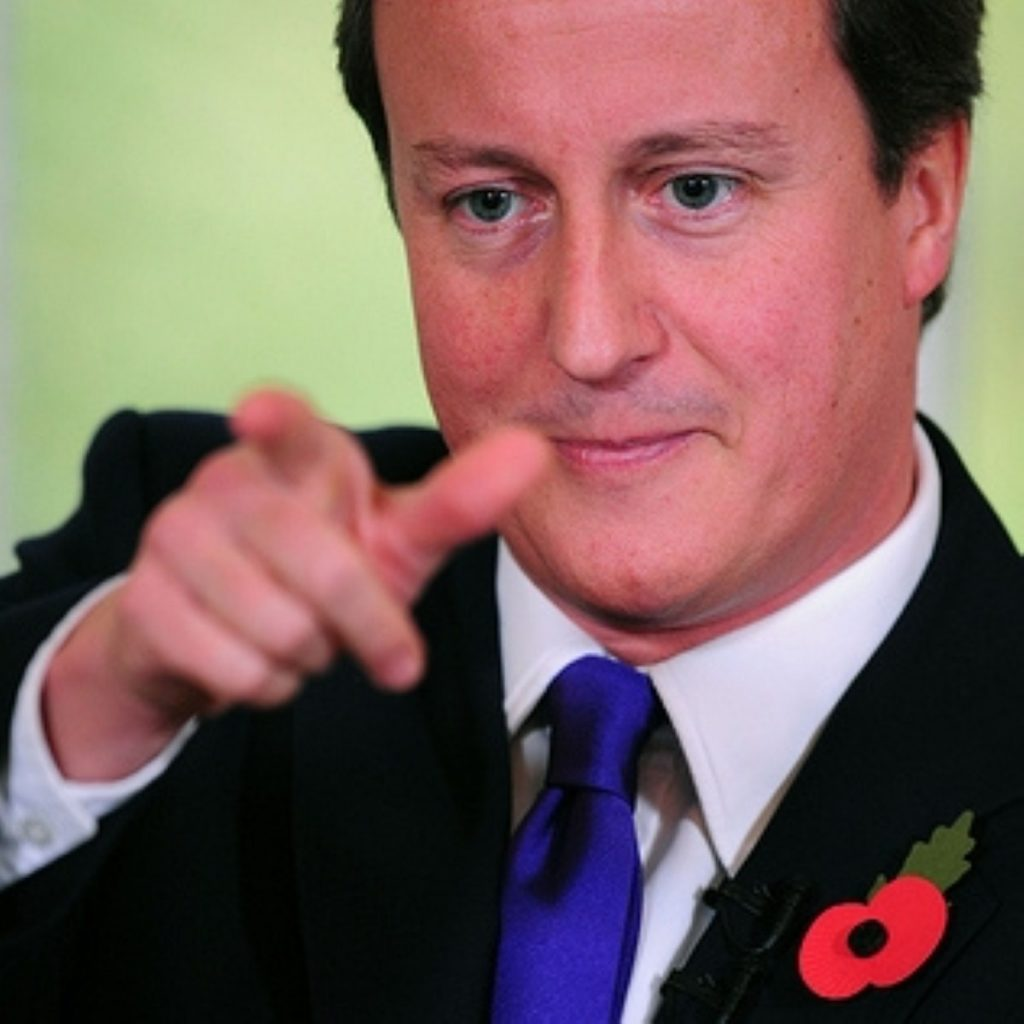Mr Cameron faced tough questions on his policy today
