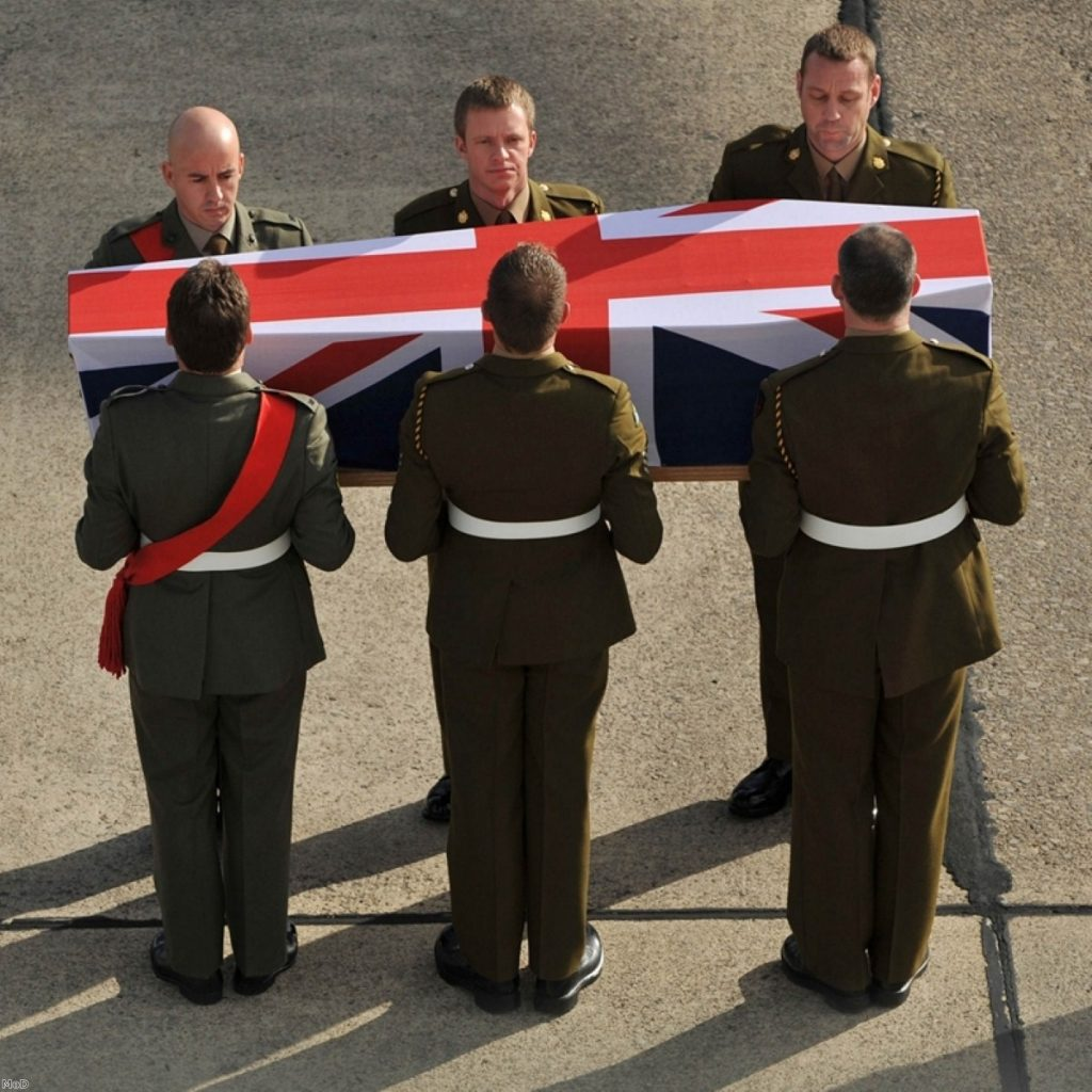 A repatriation ceremony. Campaigners say coronial system is struggling to cope with fallen service personnel numbers
