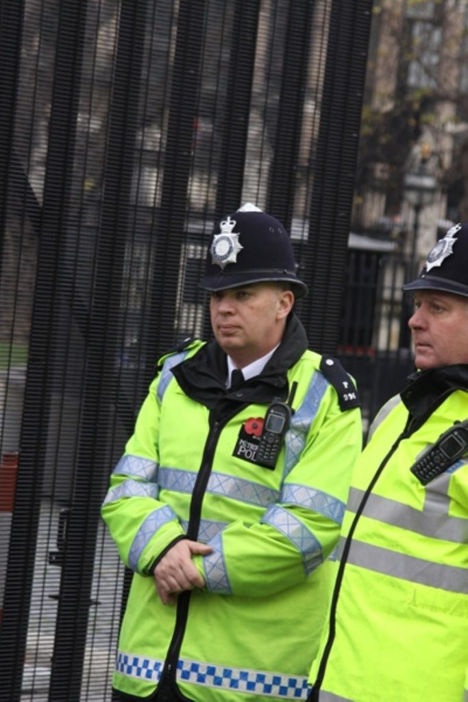 Police on the beat: The public are wary of cuts to the service.